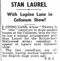 Stan Laurel Lupino Lane The Era March 18 1936
